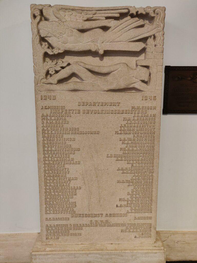 Monument WO2 slachtoffers ministerie van Binnenlandse Zaken